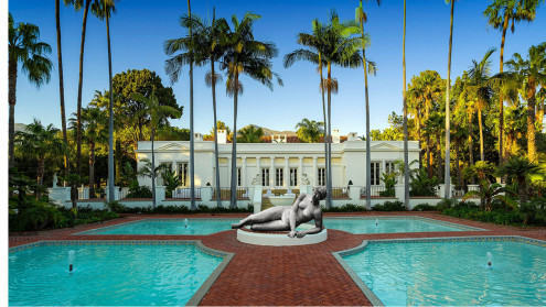 El Fureidis estate NB: location in Montecito, California stood in for Miami, Florida Mansion for the 1983 remake of Scarface